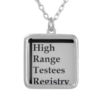 High Range Testees Registry (HRTR) Silver Plated Necklace