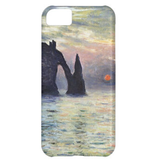 High Res Claude Monet The Manneport Sunset iPhone 5C Cases