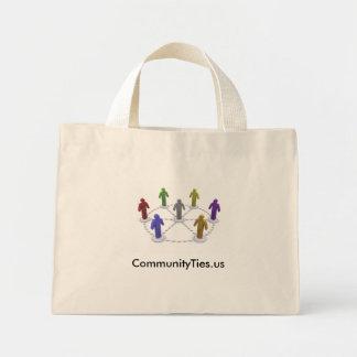 High Res commties_logo, CommunityTies.us Mini Tote Bag