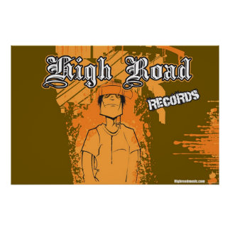 High Road Records Poster