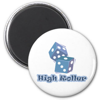 High Roller - Dice Games 2 Inch Round Magnet