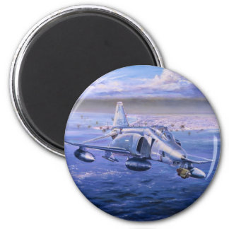 High Rollers over Kuwait by Rick Herter 2 Inch Round Magnet