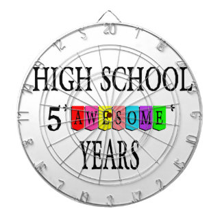 High School 5 Awesome Years.png Dartboard