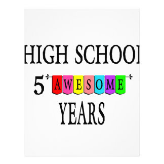 High School 5 Awesome Years.png Letterhead