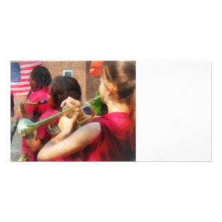 High School Band at Parade Personalized Photo Card