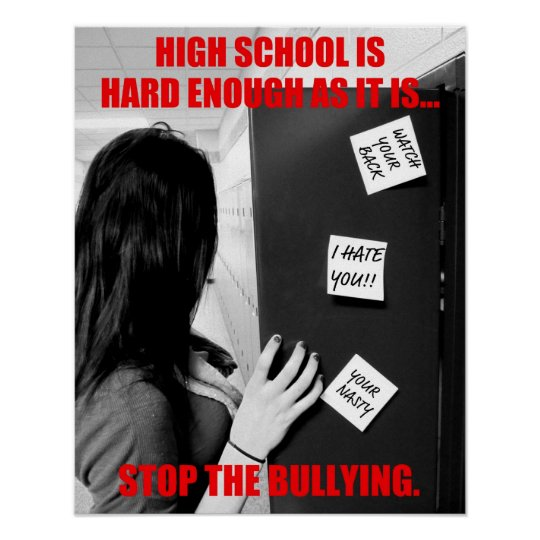 High School Bullying (Clean) Poster