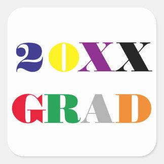 High School Class Year -Square Graduation Sticker
