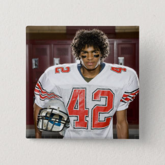 High School football player 2 Inch Square Button