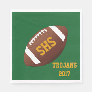 High School Football Team Homecoming Party Napkins Paper Napkins