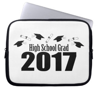 High School Grad 2017 Caps And Diplomas (Black) Laptop Sleeve
