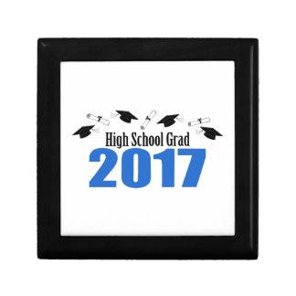 High School Grad 2017 Caps And Diplomas (Blue) Gift Box