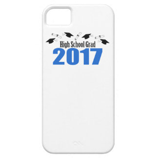 High School Grad 2017 Caps And Diplomas (Blue) iPhone 5 Case
