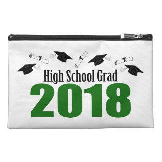 High School Grad 2018 Caps And Diplomas (Green) Travel Accessory Bag