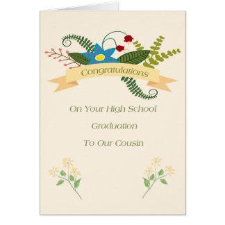 High School Graduation Card for Cousin