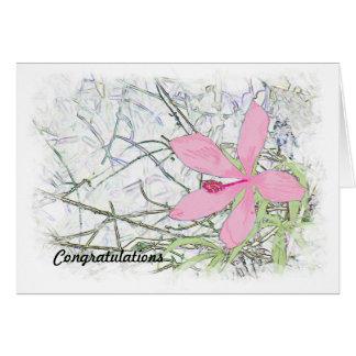 High School Graduation Congratulations Pink Hibisc Card