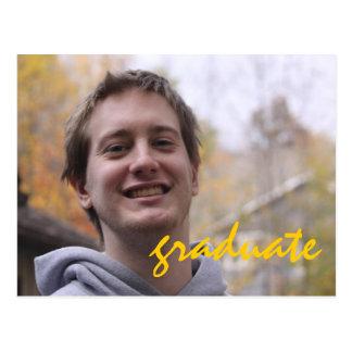 High School Graduation Party Yellow Grad Photo Postcard