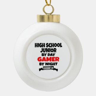 High School Junior by Day Gamer by Night Ceramic Ball Ornament