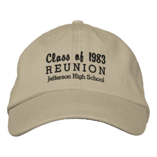 High School Reunion Class of Custom School Name Embroidered Hat