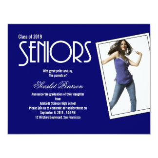 High School Seniors Graduation Party Invitation