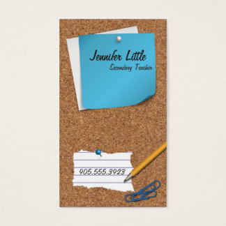 High School Teacher Business Card - Post It Note