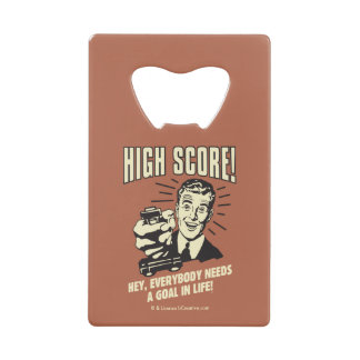 High Score: Everybody Needs Goal Life Wallet Bottle Opener