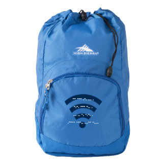 High Sierra hiking backpack morse code design