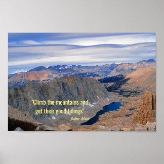 High Sierra Nevada Lake Poster