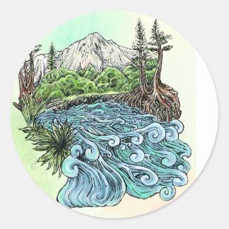 High Sierra Round Sticker