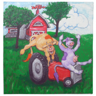 High Spirited Cows Napkin