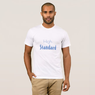 High Standard men's blue-print t-shirt