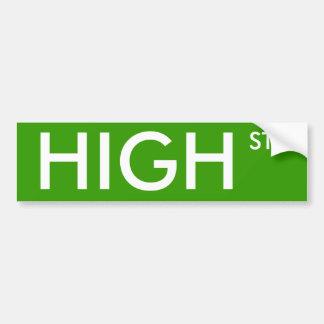 High Street Bumper Sticker