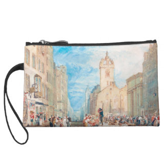 High Street Edinburgh Joseph William Turner art Wristlet Clutches