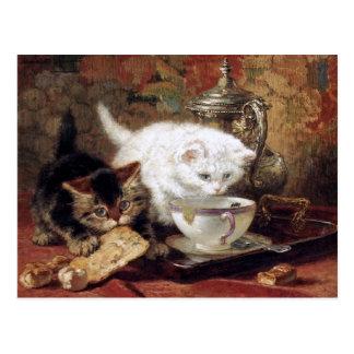 High Tea by Henriette Ronner-Knip Postcard