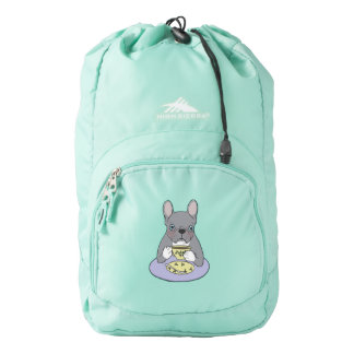 High Teas with Cute Blue Brindle Frenchie Backpack