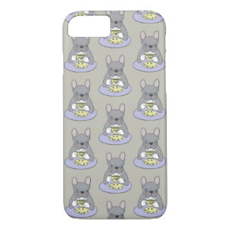 High Teas with Cute Blue Brindle Frenchie Case-Mate iPhone Case