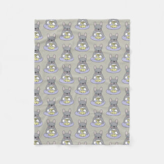 High Teas with Cute Blue Brindle Frenchie Fleece Blanket