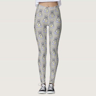 High Teas with Cute Blue Brindle Frenchie Leggings