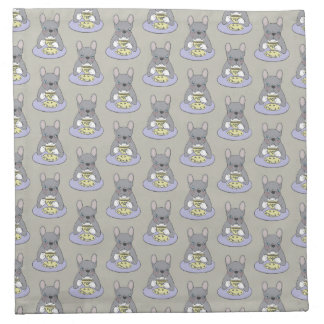 High Teas with Cute Blue Brindle Frenchie Napkins