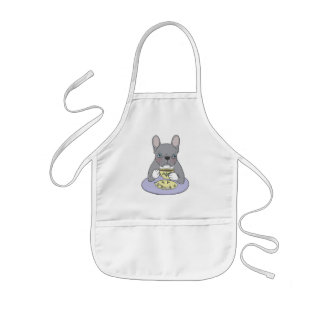 High Teas with Sweet and Cute Blue Brindle French Kids Apron