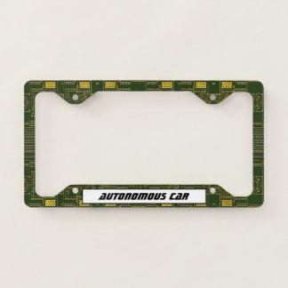 High Tech Autonomous Car License Plate Frame