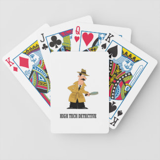 high tech detective poker deck