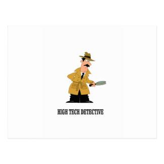 high tech detective postcard