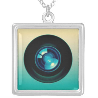 High Technology Camera Silver Plated Necklace