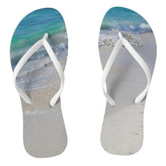 High Tide at the Beach Flip Flops