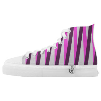 High Top Shoe with Bold Stripes