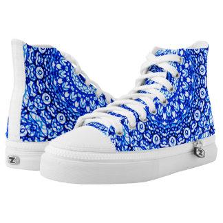 High Top Shoes Mandala Mehndi Style G403
