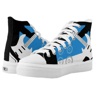 high top sneaker with guitar design