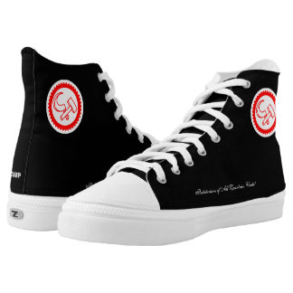 High-Top ZIPZ Shoes with Party Logo