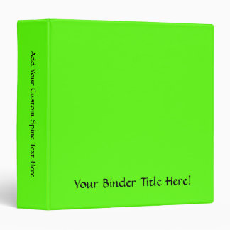 High Visibility Neon Green Binder