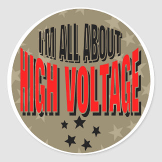 High Voltage Electrician Classic Round Sticker